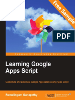 Learning Google Apps Script - Sample Chapter