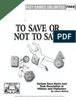 Tasks and Saves