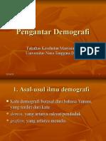 Pengantar Demografi-FKM