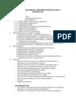 Estructura Del Informe AMPLIACION PLAZO y Modificaciones en Fase de Inversion