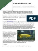 Tips Memelihara Ikan Hias pada Aquarium Air Tawar