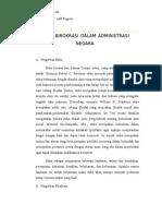 Etika Birokrasi Dalam Administrasi Negara