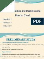 PPT Cloud Audit Deduplication