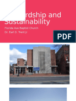Stewardship and Sustainability by Dr. Earl D. Trent Jr
