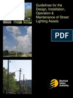 Guidelines for the Design, Installation, Operation & Maintenance of Street Lighting AssetsGuideline for Street Lighting Assets