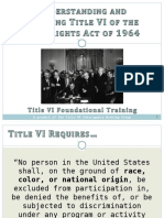 Title VI of the Civil Rights Act