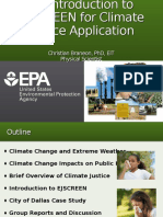 An Introduction to EJSCREEN for Climate Justice Application by Christian Braneon, PhD