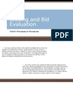 Bidding and Bid Evaluation
