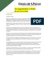 Bancoop Fez Pagamentos a Firma Investigada Na Lava Jato