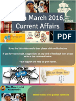 16 March 2016 Current Affairs for Competition Exams