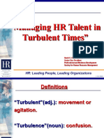 Managing Hr in Turbulent Times[1]
