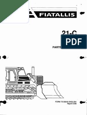 Fiat Allis 21C_4 pdf | Screw | Steering