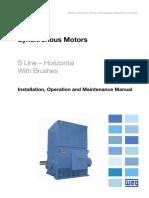 WEG Synchronou Motor With Brushes 11997784 Manual English