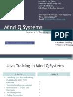 Java  Course Content