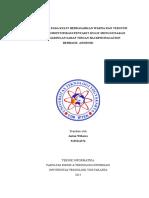Deteksi Tepi Pada Kulit Berdasarkan Warna Dan Tekstur Untuk Mengidentifikasi Penyakit Kulit Menggunakan Metode Jaringan Saraf Tiruan Backpropagation Berbasis Scan Android