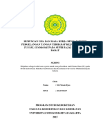 Hubungan Usia Dan Masa Kerja Dengan Posisi Pergelangan Tangan Terhadap Kejadian Carpal Tunnel Syndrome Pada Supir Bajaj Di Jakarta Barat M Firsan Ilyas 2012730137