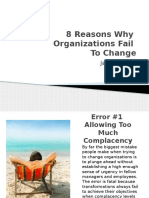 why organizations fail to change
