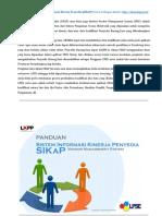Sistem Informasi Kinerja Penyedia (SIKaP)
