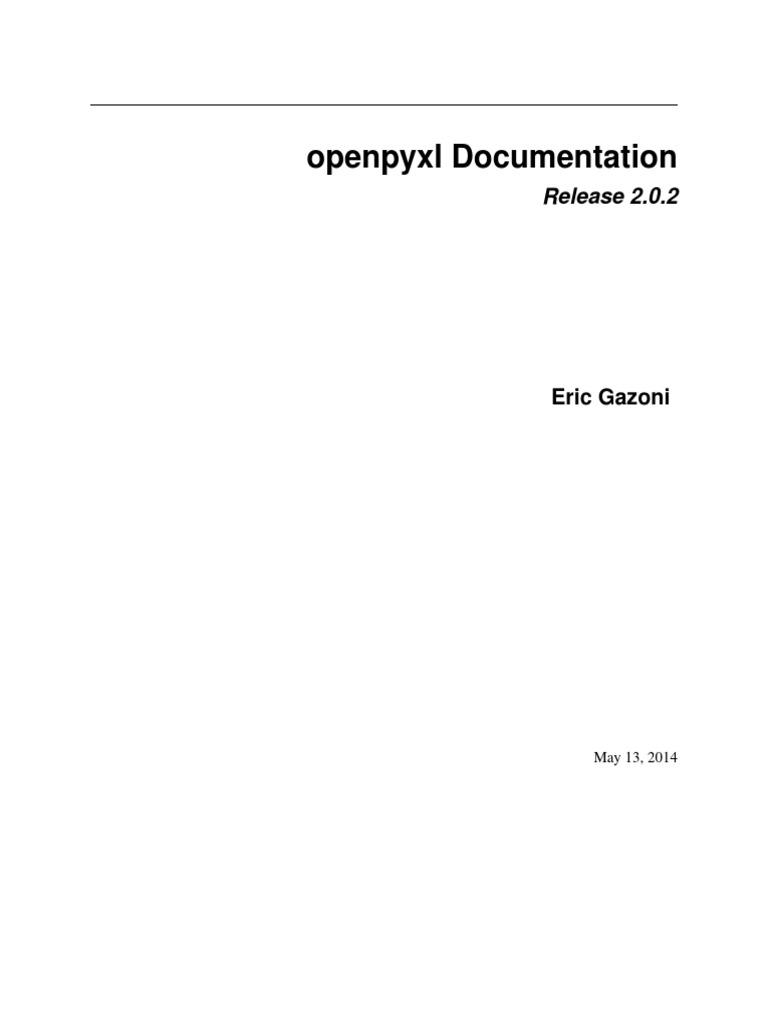 openpyxl | Xml | Microsoft Excel