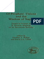 Visions and the Wisdom of Sages Essays in Honour of R Norman Whybray on His Seventieth Birthday JSOT Supplement Series