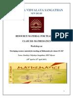 Maths Resource Material 2015 for Teachers