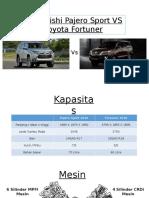 Compare Toyota Fortuner 2016 and Mitsubishi Pajero Sport 2016