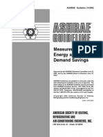 ASHRAE guideline 14-2002 Measurement of Energy and Demand Saving