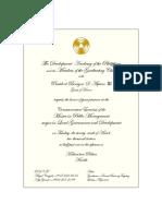 Invitation Card for the MPM-LGD Graduation