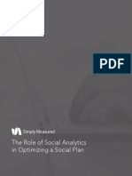 The Role of Social Analytics in Optimizing a Social Plan