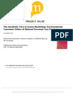 Artigo 6 - The aesthetic turn in green merketing  environmental consumer ethics of natural personal care products.pdf