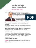 Presidentes Del Perioddero Parlamentario y Sus Obras