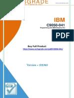 CertsGrade C9050-041 PDF Training Kits
