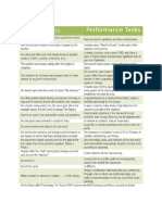 projects vs  performance tasks