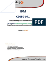 ExamsGrade C9050-041 Certification Exam