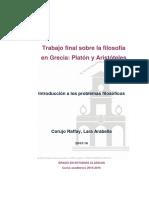 Trabajo Final de Filosofía (Platón y Aristóteles)