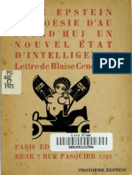 Epstein, Jean - La Posie d'Au Jourd'Hui