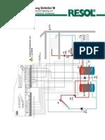 5.2. System3 mit Wärmeaustauschregelung, 1 Heizkreis und Holzkessel