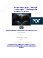 Batman v Superman Dawn of Justice Téléchargement Gratuit Version Française