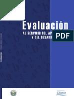 Evaluación Al Servicio Del Aprendizaje Y desarrollo 2016