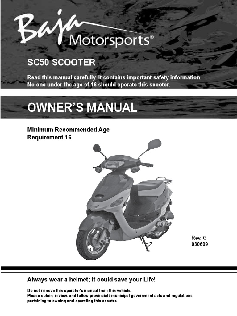 Keeway 50 Wiring Diagram Owners Manual Sc50 Scooter Tire Motor Oil