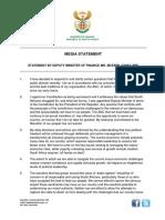 Statement by Deputy Minister Jonas