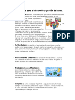 Características Para El Desarrollo y Gestión Del Curso