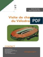 Dp - Visite de Chantier Velodrome - 9-09-2014