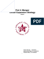 Pret a Manger Internationalisation Strategy