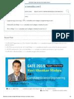 GATE 2015 Topper Interview _ Ravi Shankar Mishra