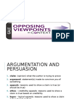research argumentation terms