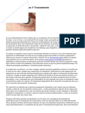 Sintomas iniciales glaucoma