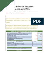2 Casos Prácticos de Calculo de Renta de 4ta Categoría 2015