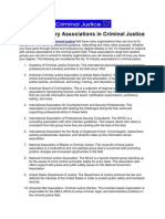 Top 10 Industry Associations in Criminal Justice