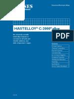 Parr Hastelloy C 2000 Alloy Corrosion Info